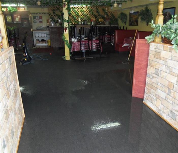 Water Damage Flooded Italian Restaurant